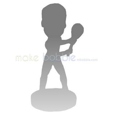 Fully customized sports bobblehead dolls