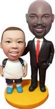 Father and Son Bobblehead dolls