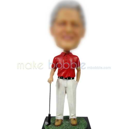 man golf bobble doll