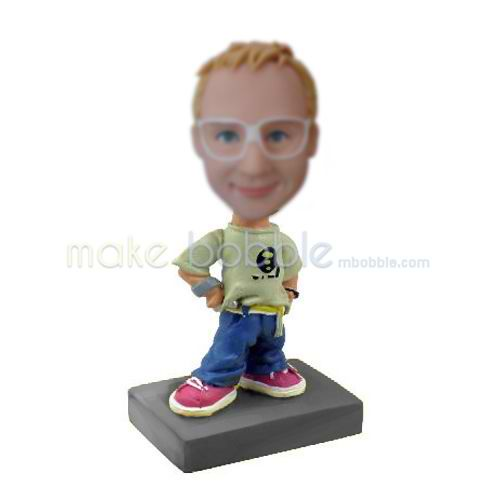 Personalized custom funny boy bobbleheads