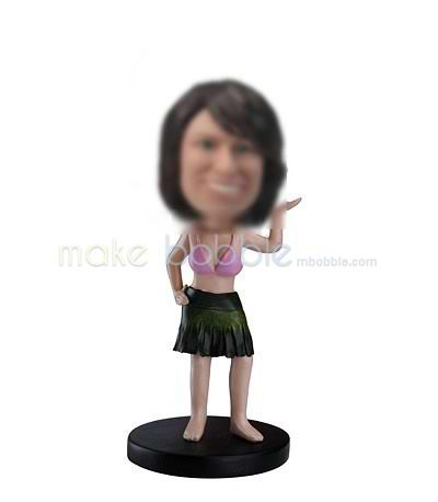 Personalized custom Hawaiian hula bobbleheads