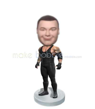 Personalized custom strong man bobblehead