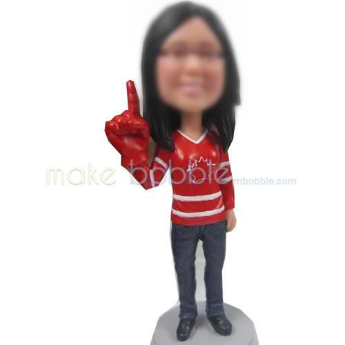 personalized bobblehead doll of Leisure girl