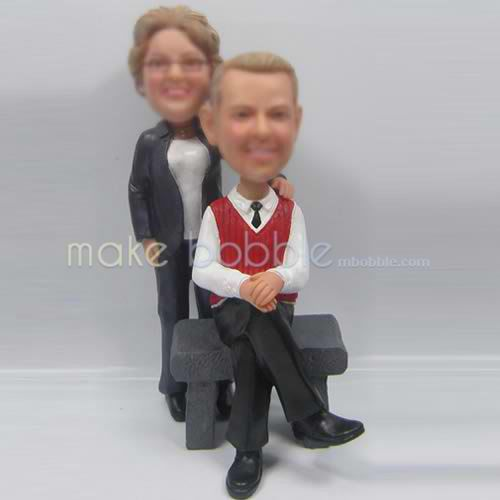 Custom bobbleheads of happy