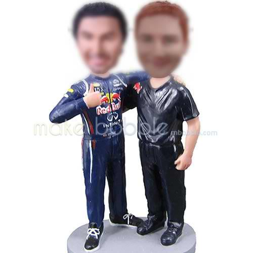 Personalized bobbleheads of sports man