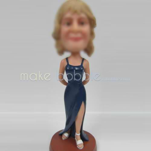professional Custom evening party clothing bobbleheads