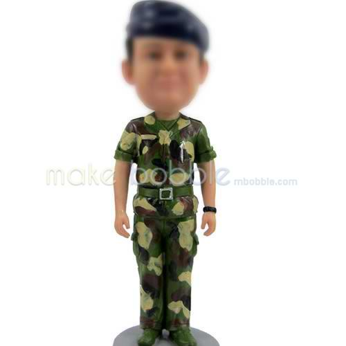 personalized Soldier bobbleheads