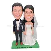 Personalized wedding bobblehead for wedding day
