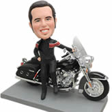 bobble head custom man with Motorcycle