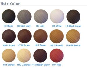 hair color card
