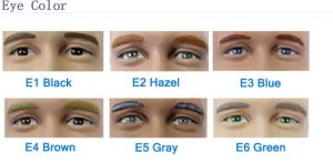 skin eyes color card
