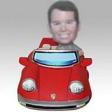 Personalized custom man and red color car bobbleheads
