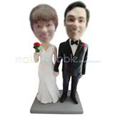 Custom wedding bobble heads