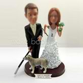 Personalized custom wedding cake bobblehead dolls