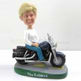 Personalized custom female with Motorcycle bobbleheads