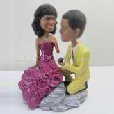 Customized wedding cake bobblehead