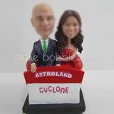 Personalized custom bobble heads of wedding cake