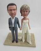 Custom bobble head of wedding cake