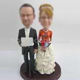 Custom wedding cake bobble head