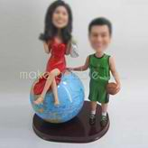Custom wedding cake bobble heads