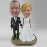 Personalized custom sweet wedding cake bobblehead dolls