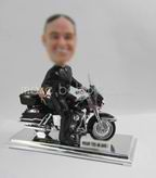 Personalized custom Bike Racer bobble heads