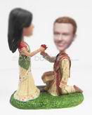 Personalized custom India wedding cake bobblehead