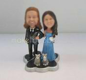 Personalized custom wedding cake bobbleheads