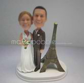 Personalized custom funny wedding cake bobble heads