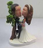 Personalized custom funny wedding cake bobblehead