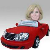 Personalized custom woman and red color car bobbleheads