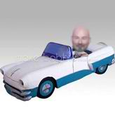 Personalized custom man and car bobbleheads