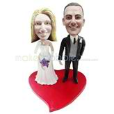 Personalized wedding bobbleheads