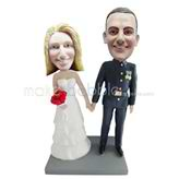 Personalized wedding bobblehead doll