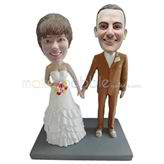 Customized wedding bobble heads
