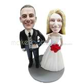 Wedding party bobbleheads