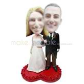 Customized  wedding bobble head dolls