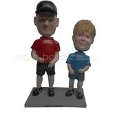 Custom Dad and Son bobbleheads