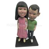 Custom sister and brother bobble heads