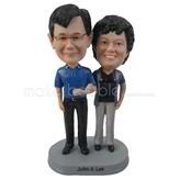 Personalized custom couple bobbleheads anniversary gifts