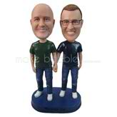 Personalized custom best friends forever bobbleheads