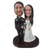 Honeymoon newlyweds wedding bobbleheads