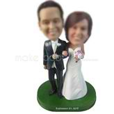 Custom bobbleheads couple dolls