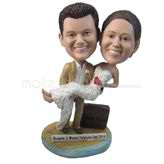 Funny wedding party bobbleheads