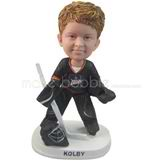 Kid ice hockey player - make your own bobblehead