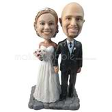 Wedding party bobbleheads - personalized wedding figurines