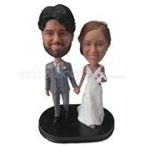 Personalized sweet wedding bobbleheads