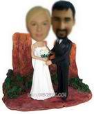 Personalized custom beautiful bride and cool groom bobblehead