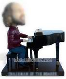 Personalized custom musician playing the piano bobblehead