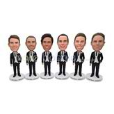 Personalized customized six groomsen bobblehead